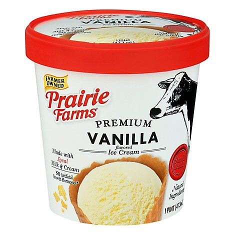 Prairie Farms Small Batch Vanilla Ice Cream, Pint - 16 OZ