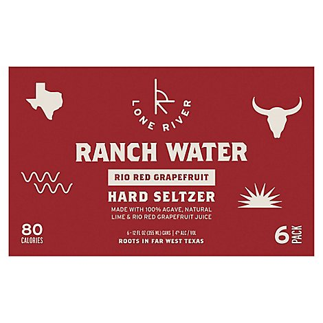Lone River Ranch Water Hard Seltzer Rio Red Grapefruit - 6-12 Fl. Oz.