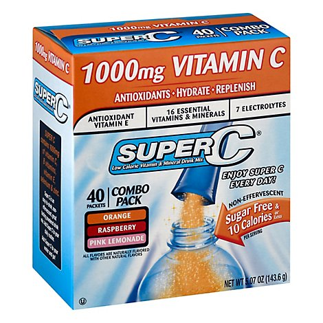 Super C Singles To Go Variety Pack - 40 CT