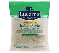Lucerne Cheese Italian Blend Shredded Family Size - 32 OZ