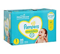 Pampers Swaddlers Diapers Size 1 Super - 96 Count