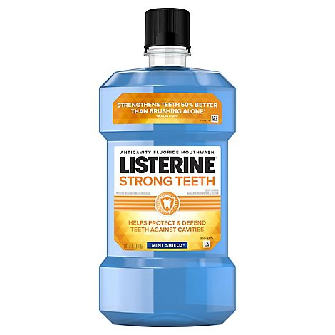 Listerine Mouthwash Strong Teeth Mint - 33.8 FZ