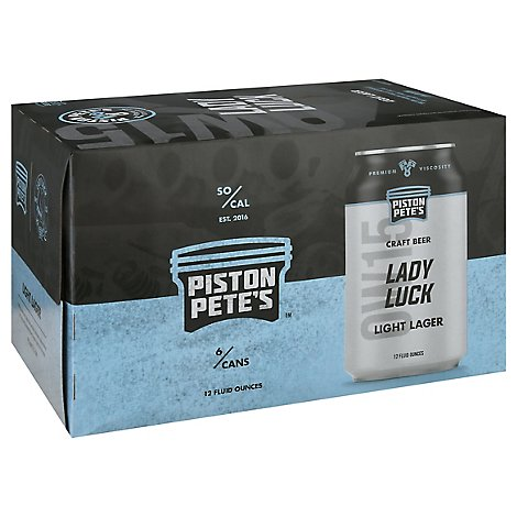 Piston Pete's Lady Luck Light Lager Cns - 6-12 FZ