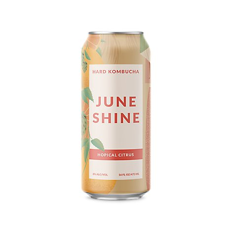 June Shine Hard Kombucha Hopical Citrus - 16 Fl. Oz.