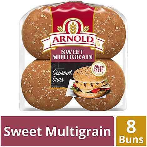 Oroweat Sweet Multigrain Hamburger Buns - 8 CT