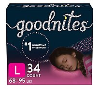 Goodnites Girl Giga Sz5 - 34 CT