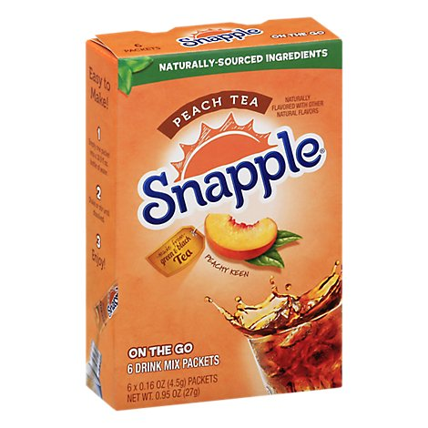 Snapple Pwdr Drink Mix Peach - .75 OZ