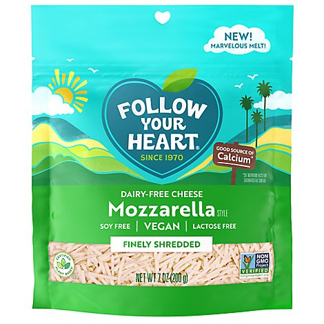 Follow Your Heart Mozzarella Shredded - 7 OZ