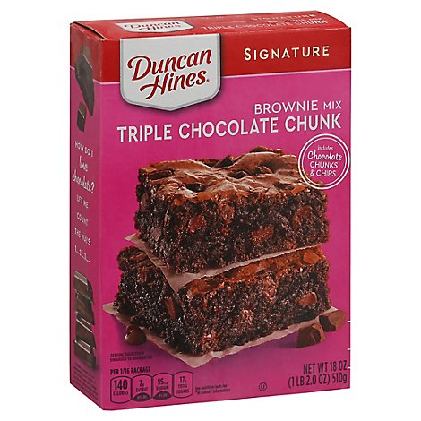Duncan Hines Triple Choc Chunk Brownie M - 18 OZ