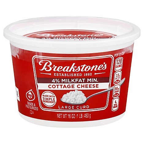 Breakstones Cottage Cheese Large Curd 4 - 16 OZ