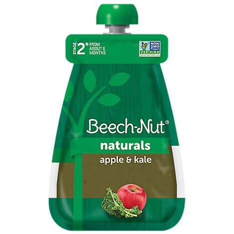 Beech-nut Stage 2 Apple & Kale Baby Food Pouch - 3.5 OZ