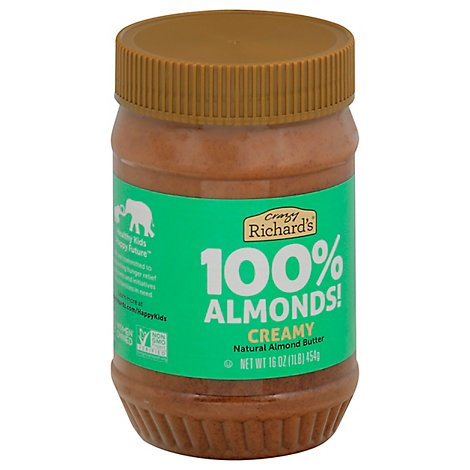 Crazy Richards Almond Butter - 16 OZ