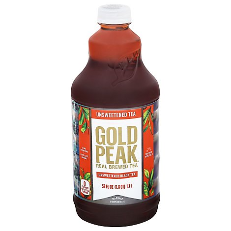 Gold Peak Unsweetened Black Tea Bottle - 59 FZ