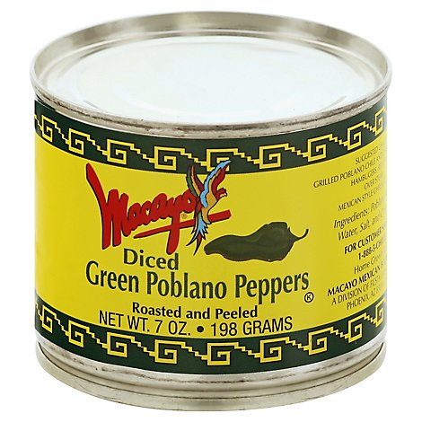 Macayo Poblano Peppers - 7 OZ