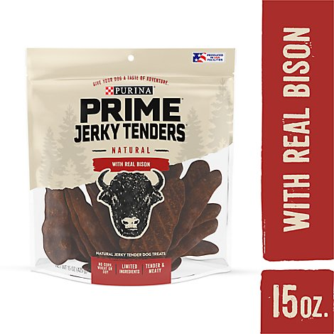 Purina Prime Jerky Tenders Bison Dog Treats - 15 OZ
