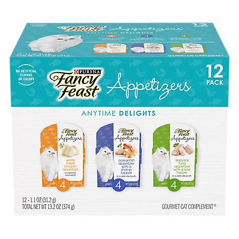 Purina Fancy Feast Cat Appetizer Variety Pack - 12-1.1 OZ