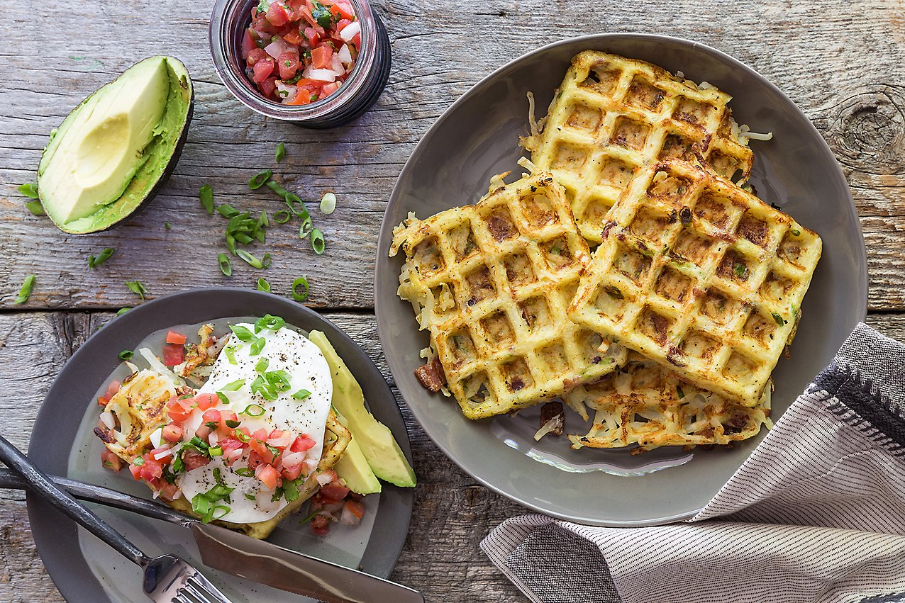 Bacon and Scallion Hashbrown Waffle