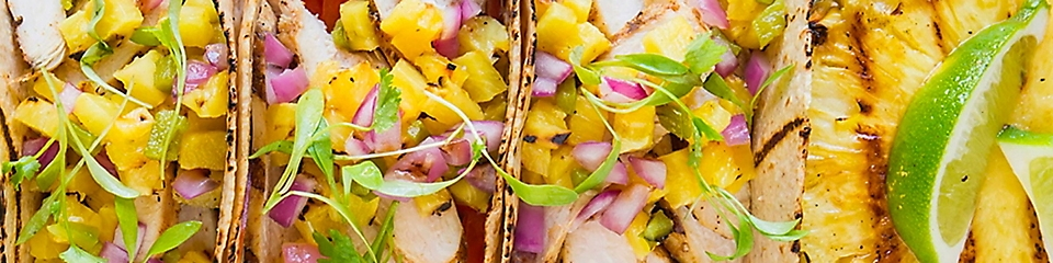 Grilled Spicy Chicken Taco & Pineappple Salsa