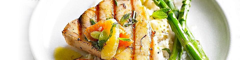 Grilled Swordfish with Citrus and saffron
