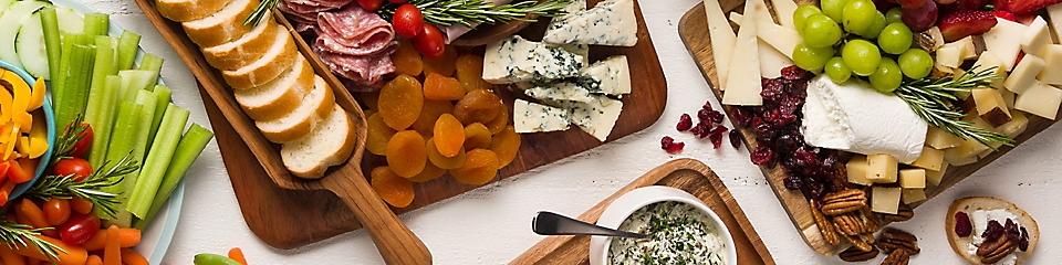 vegetable tray, deli tray and cheese tray