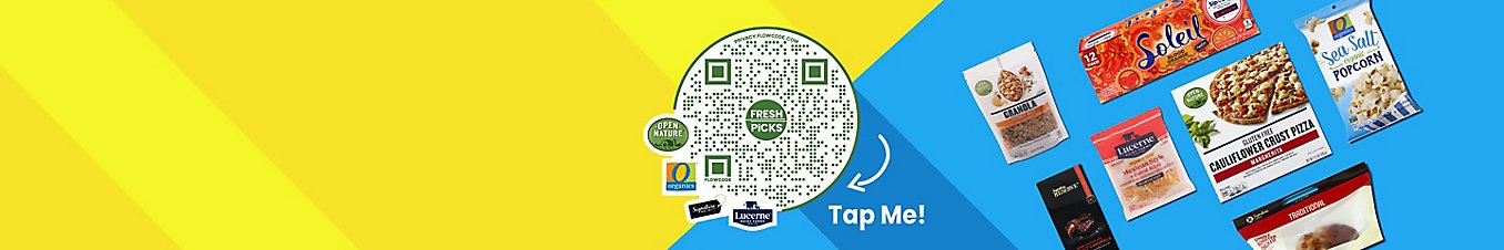 Scan the QR code on the image or click on the image to vote on your favorite Own Brands foods.