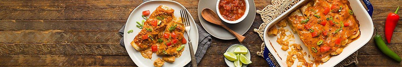 Chicken and Cheese Enchiladas