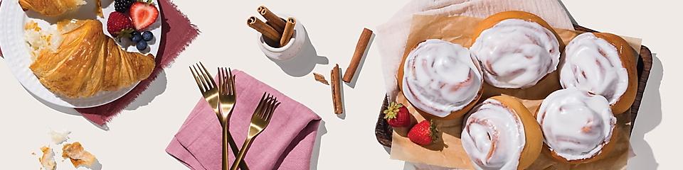 Croissants and cinnamon rolls