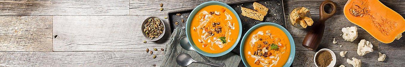 Pumpkin Seeds Butternut Squash Cauliflower Soup Curried Spiced