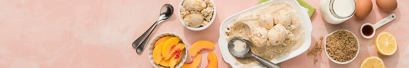Brown Sugar-Peach Ice Cream