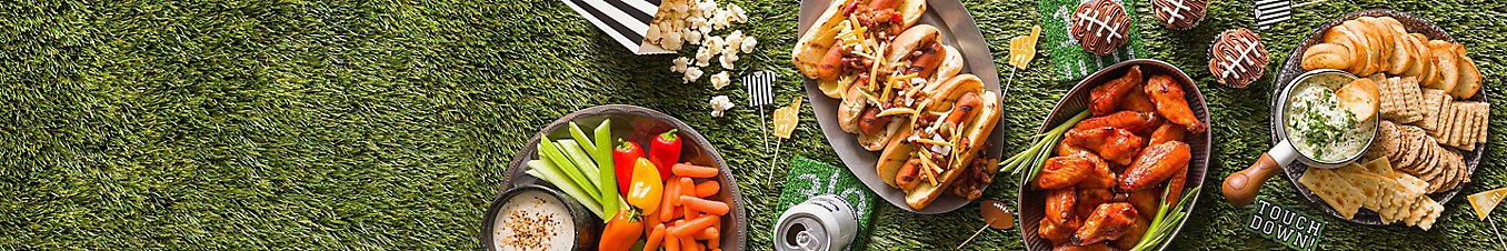 Game day party trays