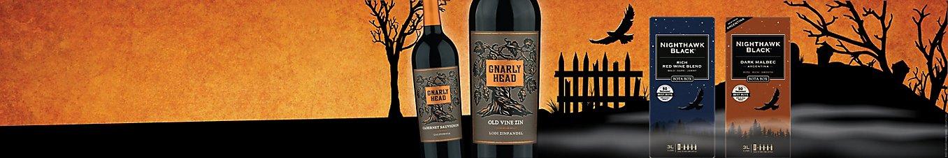 Gnarly Head wines and Bota Box Nighthawk Black wines