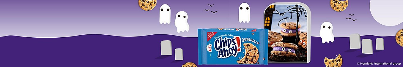 Chips Ahoy. Scary Good Treats. Fall under our spell with these tasty treats.