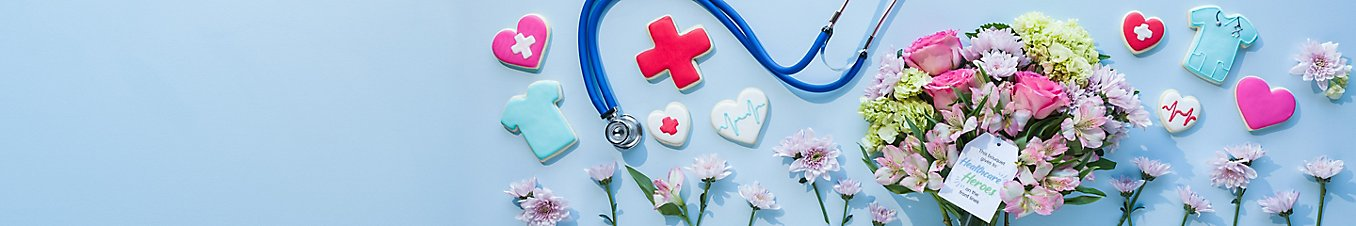 Thank You, Nurses with flowers