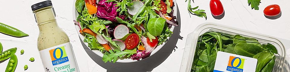 O Organics salad and salad dressing