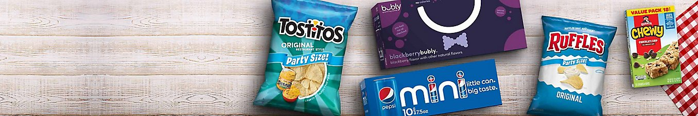 Save $5 when you spend $25 on select snacks and beverages